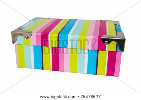 The Striped Box Isolated On White