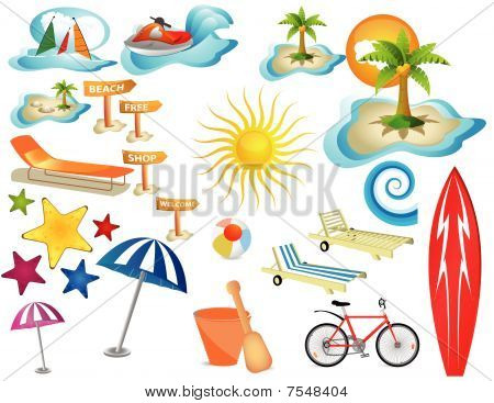 Sea, vacation, beach equipment.