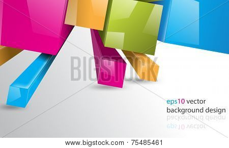 eps10 vector multicolor thee-dimensional squares business background