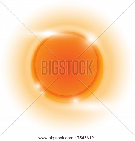 Design Orange Glow Circle Vector Abstract Background