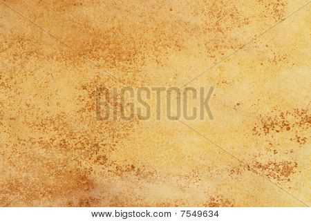 Aged yellow color based grunge paper background poster