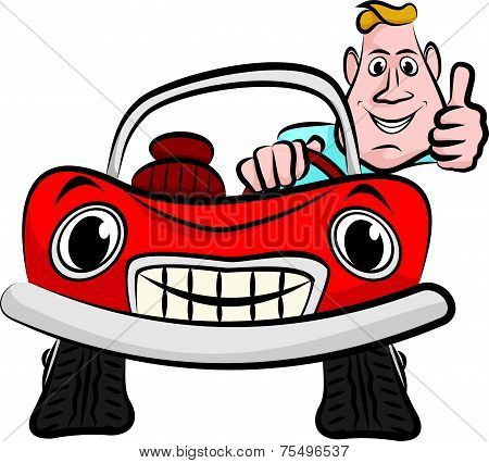 smiling and happy driver