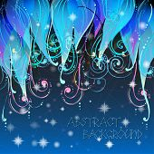 Fairy tale elegant abstract background illustration in vector with swirls, stars and dots. Used clipping mask for easy editing. poster