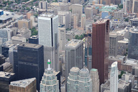 Aerial View Of Downtown Toronto