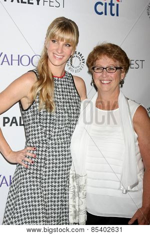 LOS ANGELES - MAR 13:  Heather Morris, mother of fiance Taylor Hubbell at the PaleyFEST LA 2015 -