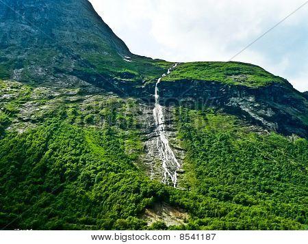 Water fall, mountain