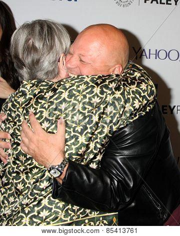 LOS ANGELES - MAR 15:  Kathy Bates, Michael Chiklis at the PaleyFEST LA 2015 -