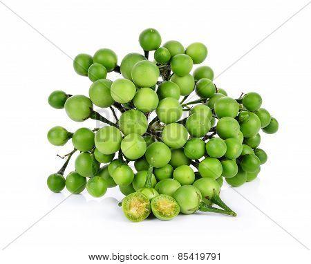Pea Eggplant On White Background