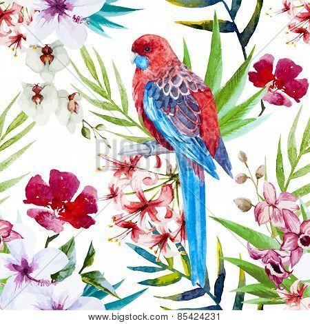 Tropical bird pattern