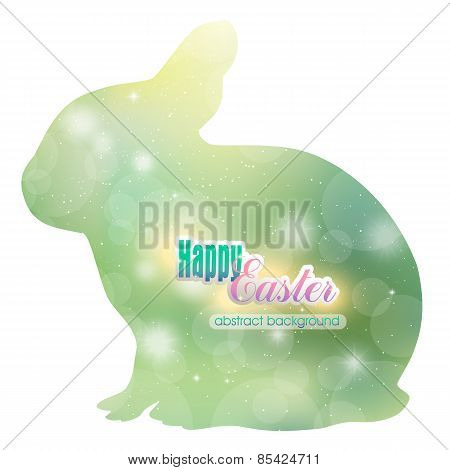 Abstract background in the Easter Bunny