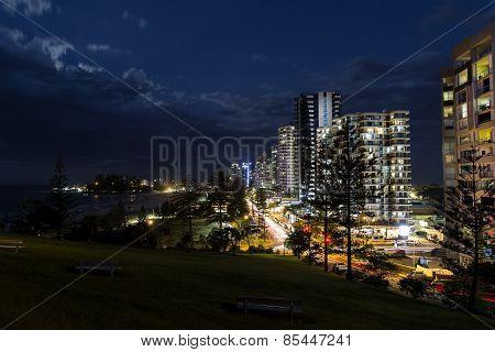 Gold Coast Coolangatta CBD nightscape
