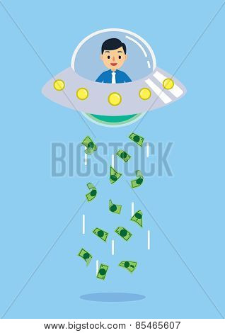 UFO kidnapping many money