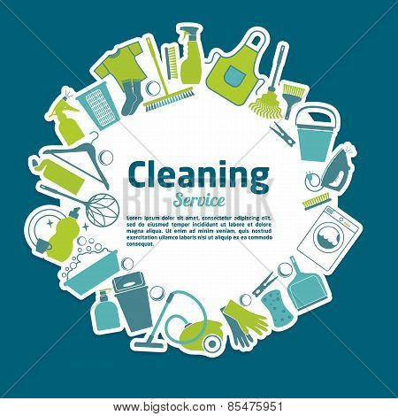 Cleaning service vector illustration.