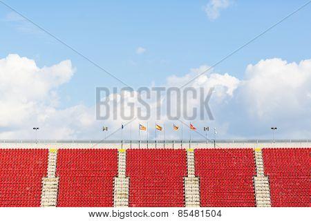 empty seats in a football stadium