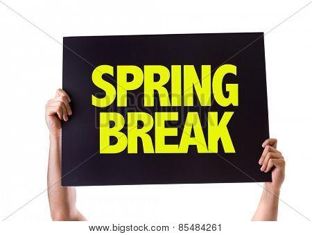Spring Break card isolated on white