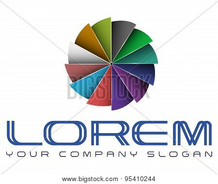 Logo template, vector, abstract, typography business, design, creative, gaming
