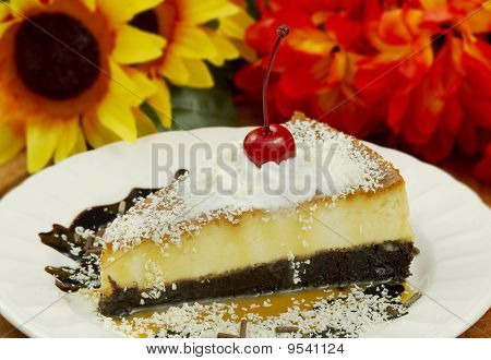 Chocolate Flan Slice