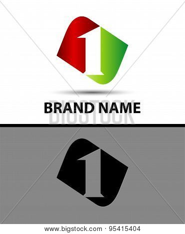Number one logo. Logo 1 vector template