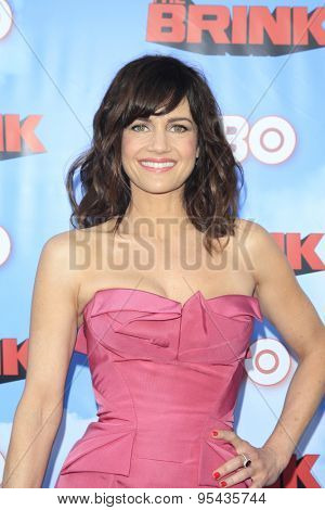 LOS ANGELES - JUN 8: Carla Gugino at the Premiere of HBO's 'The Brink' at the Paramount Theater at Paramount Studios on June 8, 2015 in Los Angeles, CA