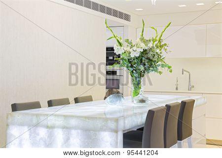 Modern Luxury design kitchen with white elements