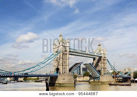 Tower Bridge With Sailing Barge