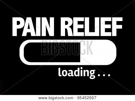 Progress Bar Loading with the text: Pain Relief