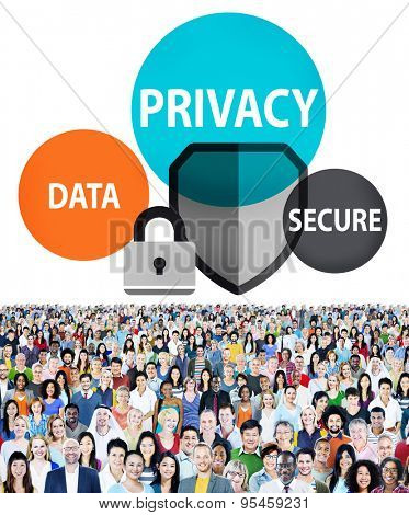 Privacy Data Secure Protection Safety Concept poster