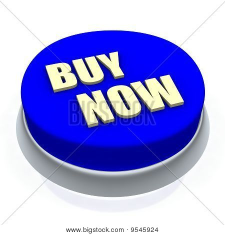 Buy now round button 3d