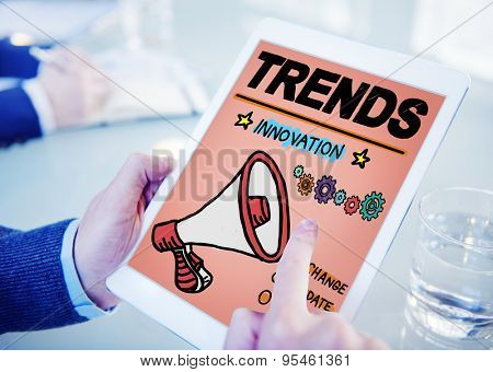 Trends Fashion Update Modern Contemporary Concept poster
