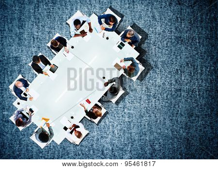 Business Team Board Room Meeting Discussion Strategy Concept