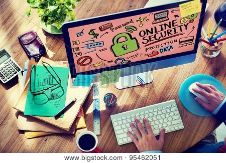 Online Security Password Information Protection Privacy Internet Concept poster