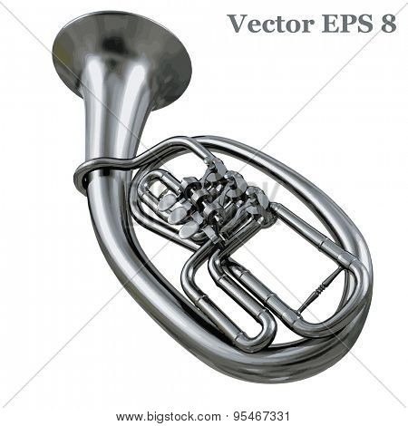 Tenorhorn Tenor Horn Bariton, vector illustration EPS 8.