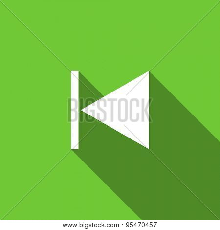 previous flat icon  original modern design flat icon for web and mobile app with long shadow