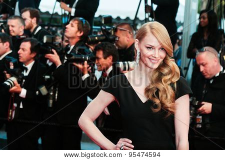 Cannes, France - May 16, 2015: Svetlana Khodchenkova attends the Premiere of 'The Sea Of Trees' during the 68th annual Cannes Film Festival on May 16, 2015 in Cannes, France.