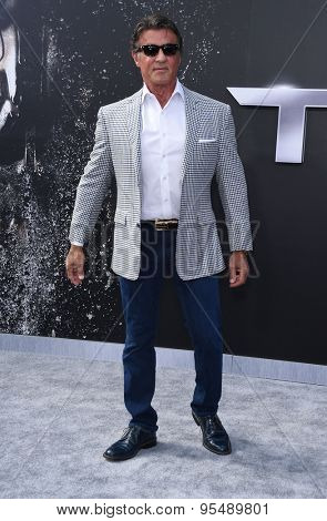 LOS ANGELES - JUN 28:  Sylvester Stallone arrives to the