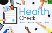 Health Check Diagnosis Medical Condition Analysis Concept poster