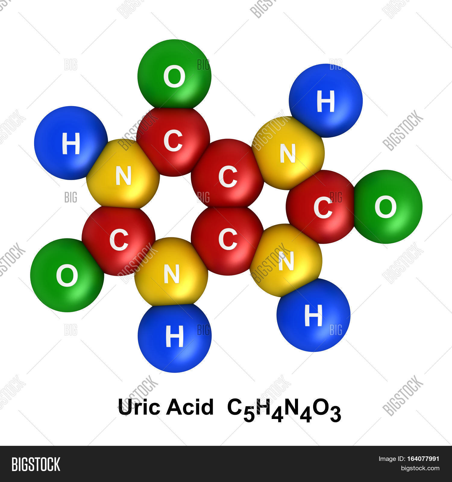 3d render molecular structure uric image photo bigstock 3d render of molecular structure of uric acid isolated over white background atoms are represented as buycottarizona Image collections
