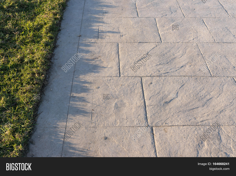 Stamped Concrete Pavement : Stamped concrete pavement slate image photo bigstock
