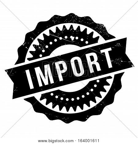 Import stamp. Grunge design with dust scratches. Effects can be easily removed for a clean, crisp look. Color is easily changed.