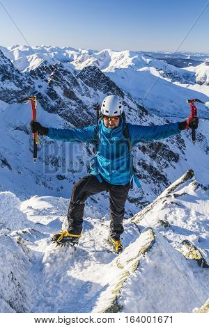 Mountaineer With An Ice Axes