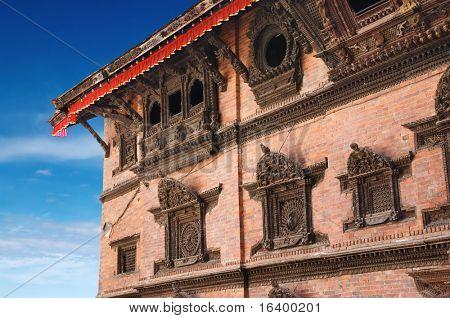 Traditional nepali architecture, Kumari ghar, Kathmandu Nepal