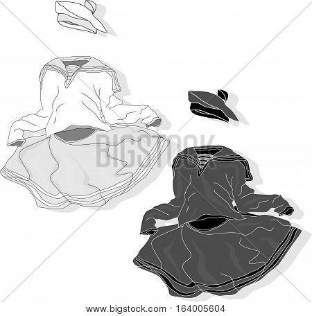 Fancy Dress Image Isolated On White Background