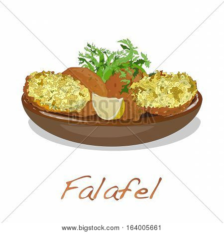 Falafel Balls Isolated On A White Background