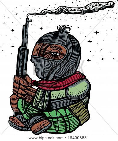 Zapatist Soldier Illustration