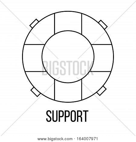 Support icon or logo line art style. Vector Illustration.