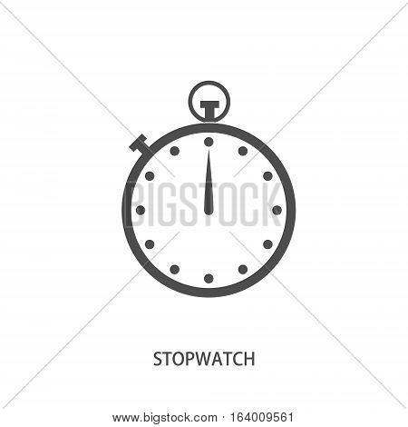 Stop watch icon in modern line style