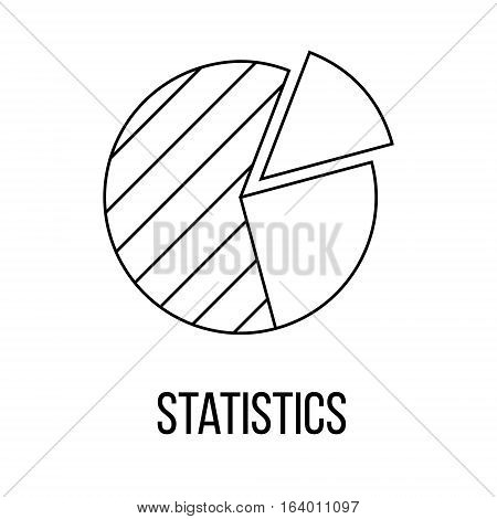 Statistics icon or logo line art style. Vector Illustration.