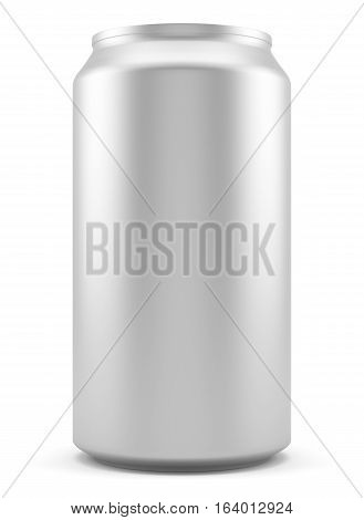Aluminum can isolated on white background. 3D illustration