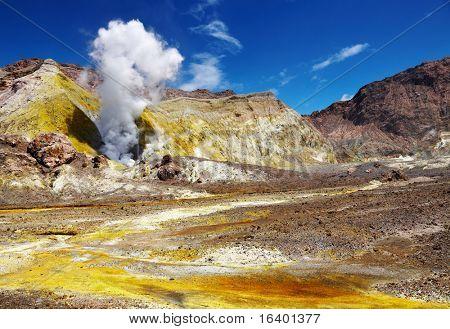White Island Volcano, New Zealand poster
