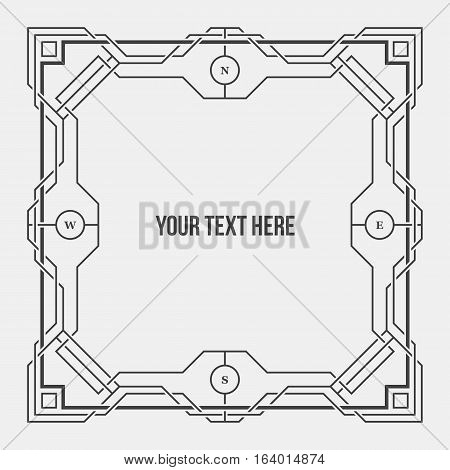 Art Deco Geometric Border/frame. Useful For Presentations And Advertising.